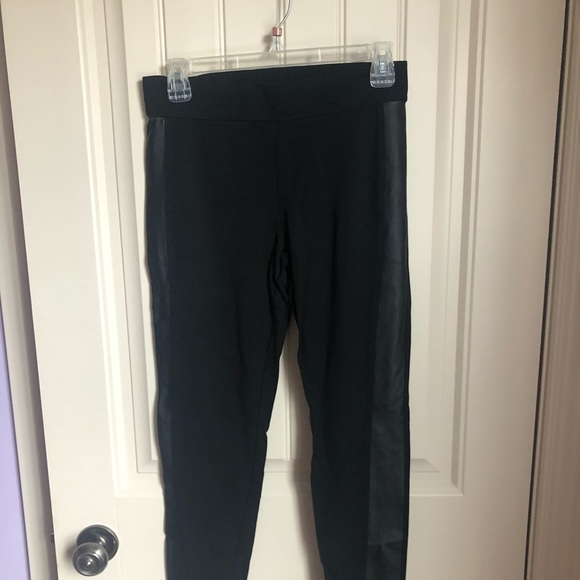 Dynamite Pants - Dynamite Black Leggings with Faux Leather
